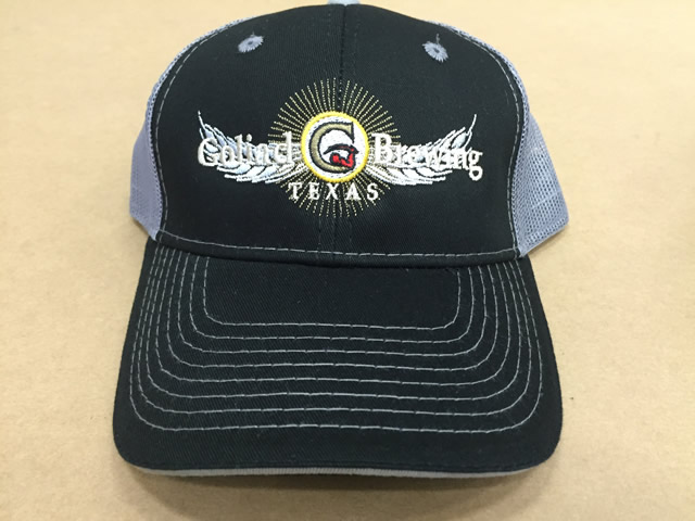 Black Trucker Grey Mesh Hat