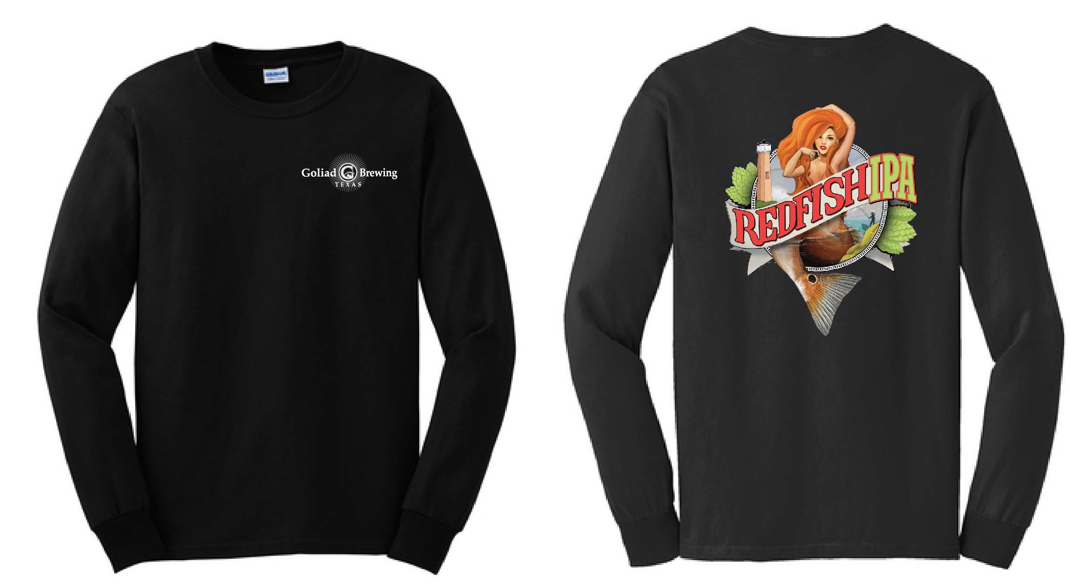 Redfish IPA L/S Black