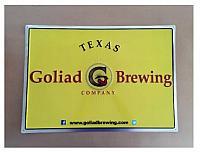 """Goliad Brewing Metal Tacker 17.5"""" x 23.5"""""""