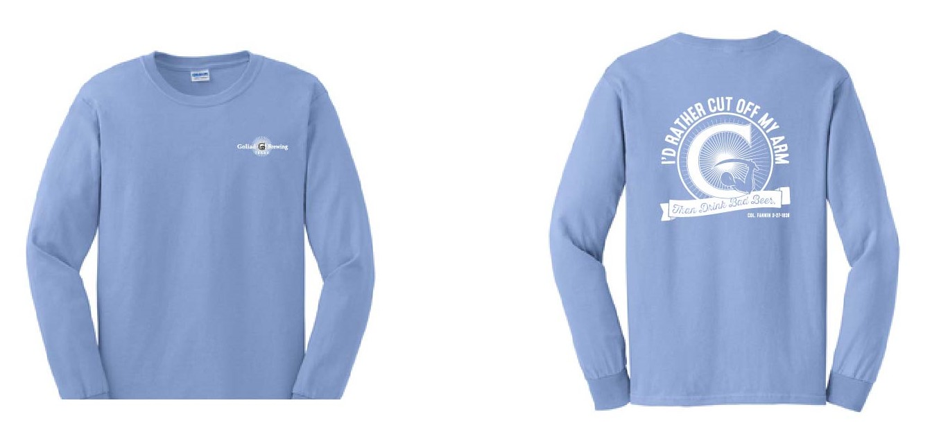 Bad Beer Logo Shirt (LS) Carolina Blue